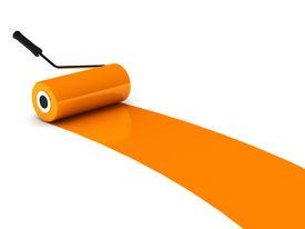 Orange Paint Roller