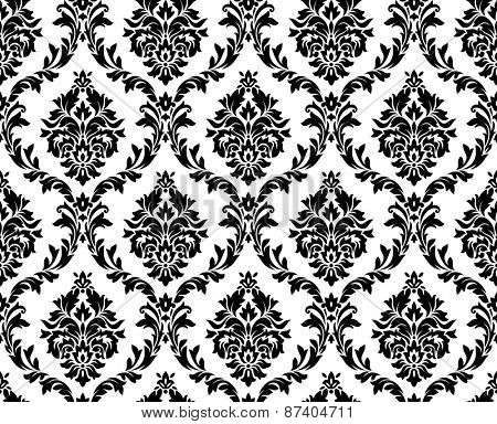 Seamless damask pattern. Ornate vintage background