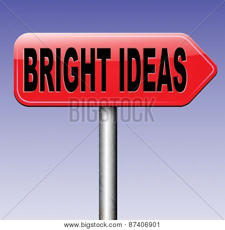 bright ideas being inspired brilliant great idea new innovation or invention eureka creative solution or discovery  poster