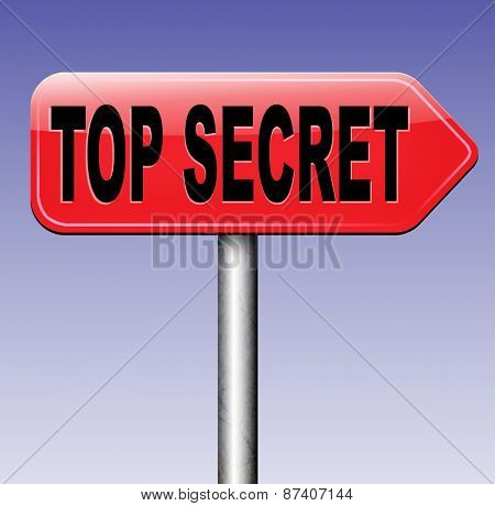 top secret file confidential and classified secrecy restricted information poster