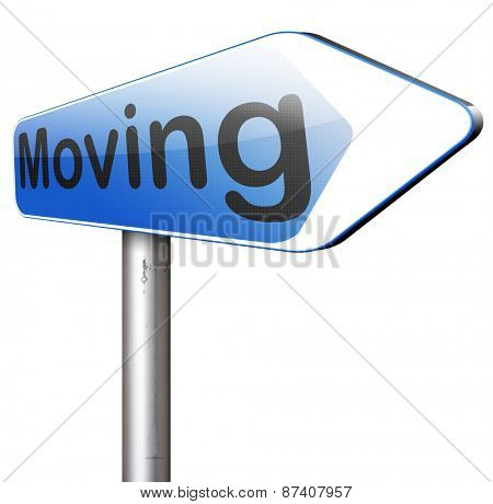Moving or relocation relocate to other house or location   poster