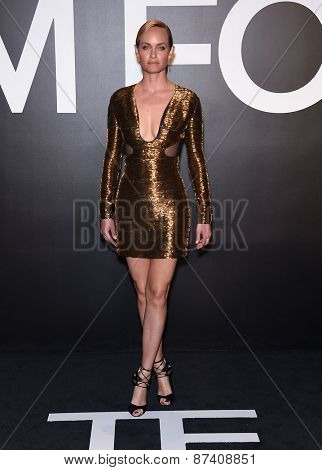 LOS ANGELES - FEB 20:  Amber Valetta arrives to the Tom Ford Autumn/Winter 2015 Womenswear Collection Presentation  on February 20, 2015 in Hollywood, CA