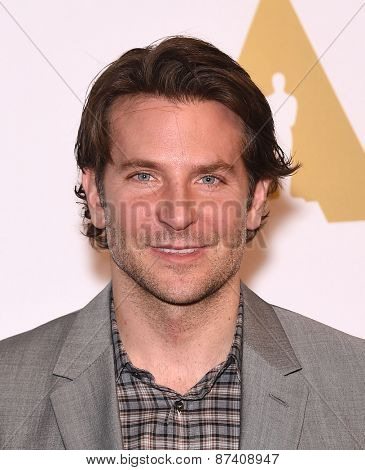 LOS ANGELES - FEB 02:  Bradley Cooper arrives to the Oscar Nominee Reception  on February 2, 2015 in Beverly Hills, CA