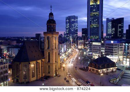 Frankfurt Hauptwache At Dusk1