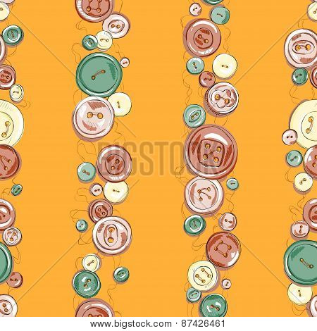 Strips of colorful hand drew buttons.