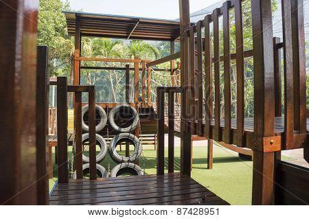 Playground Kid Park Swing Gym Slide Fun Concept
