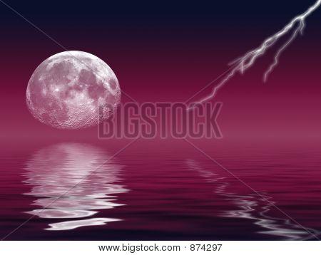 Moon & Lightning