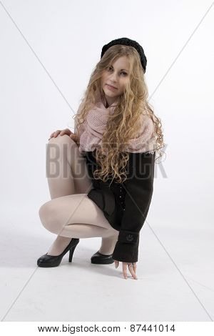 Young Woman In French Style