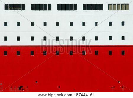 ship wall with windows