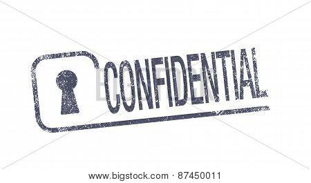 Confidential ink pad