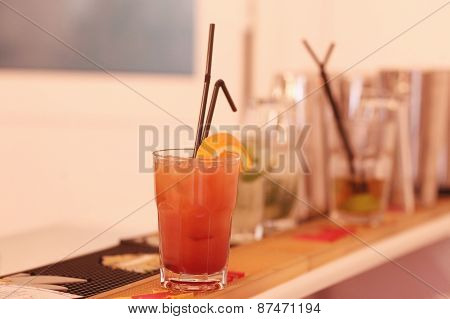 Cocktail Glass On Table