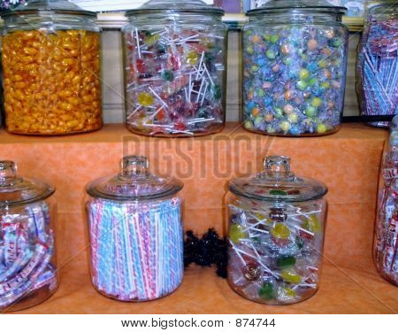 Candy Jars With Tarantula