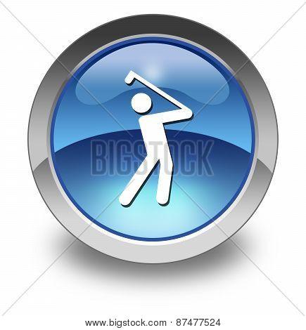Icon, Button, Pictogram Golfing