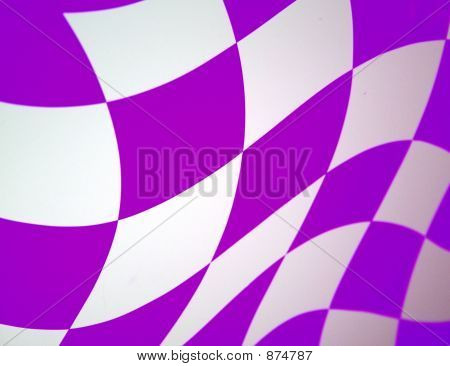 Purple Checkered Flag