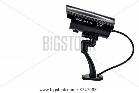 Side view of Surveilance CCD camera isolated on white background poster