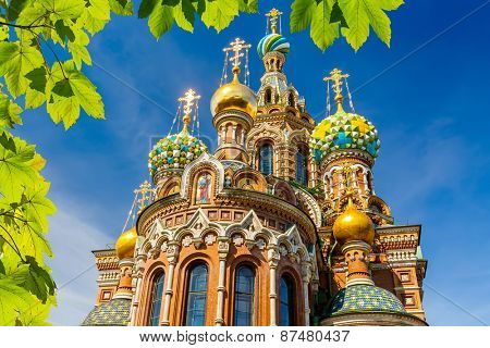 Church of the Savior on Spilled Blood in St. Petersburg, Russia poster