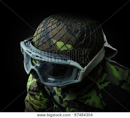 Airsoft Soldier, View From Above On The Upper