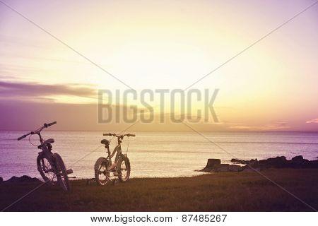 Family Fun Bikes. Enjoy Summer Concept.