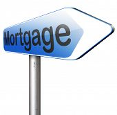 mortgage house loan paying money costs back to bank to avoid foreclosure and repossession problems  poster