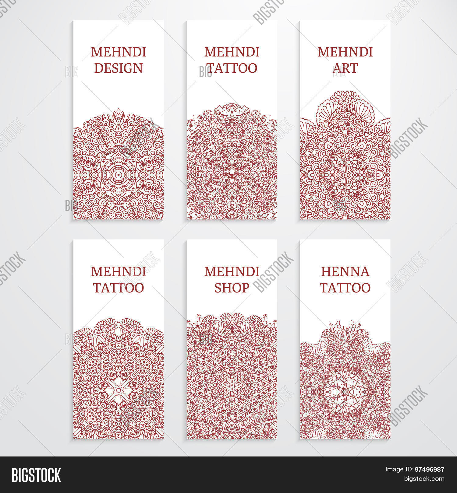 Set Flyer Templates Vector Photo Free Trial Bigstock