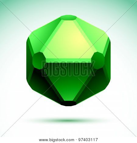 Abstract geometric 3D object, vector illustration, clear eps8.