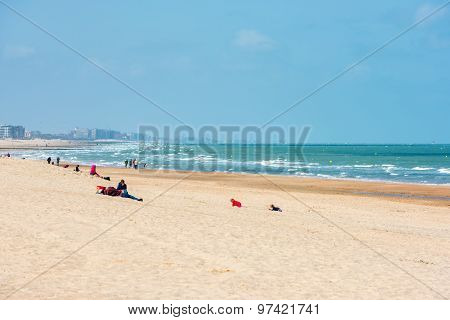 View Of Ostend Beach, Belgium