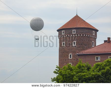 Balloon in the skies over Krakow