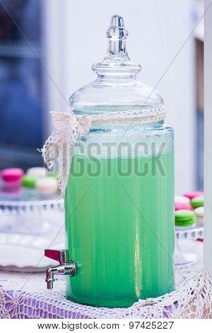 Glass Jar Of Lemonade