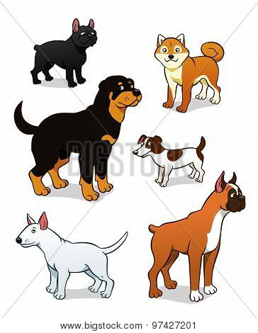 Cartoon Dogs Set Two