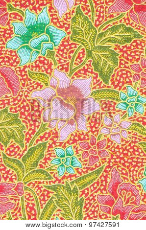 Background Of Thai Style Fabric.