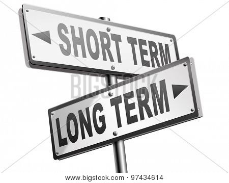 long term short term strategy planning or thinking plan and think ahead for the near and far future