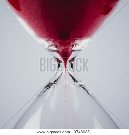 Red Sand In An Hourglass, Square