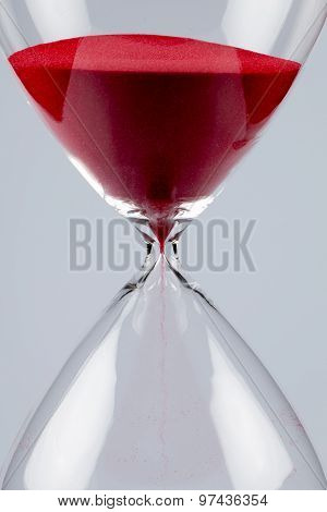Red Sand In An Hourglass, Vertical