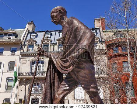 Gandhi Statue Indian Embassy Embassy Row Washington Dc