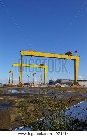Cranes At Belfast Shipyard