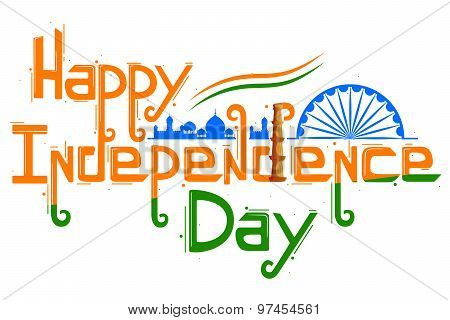 Indian tricolor flag for Happy Independence Day