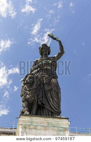 Bavaria Statue At Theresenwiese In Munich, 2015