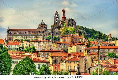 View Of Le Puy-en-velay, A Town In Haute-loire, France