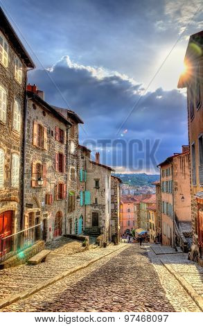 Street In The Historic Centre Of Le Puy-en-velay - France