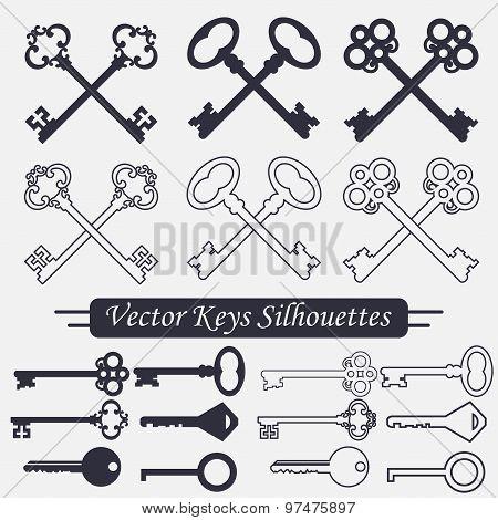 Crossed keys set - vector