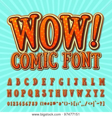 Creative High Detail Orange - Chocolate Comic Font.