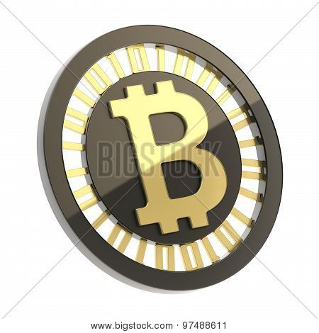 Bitcoin currency symbol coin isolated