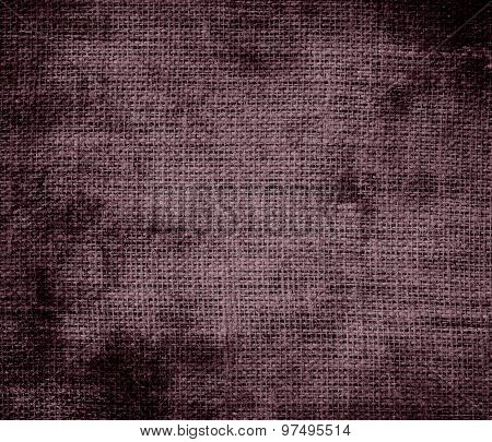Grunge background of deep tuscan red burlap texture