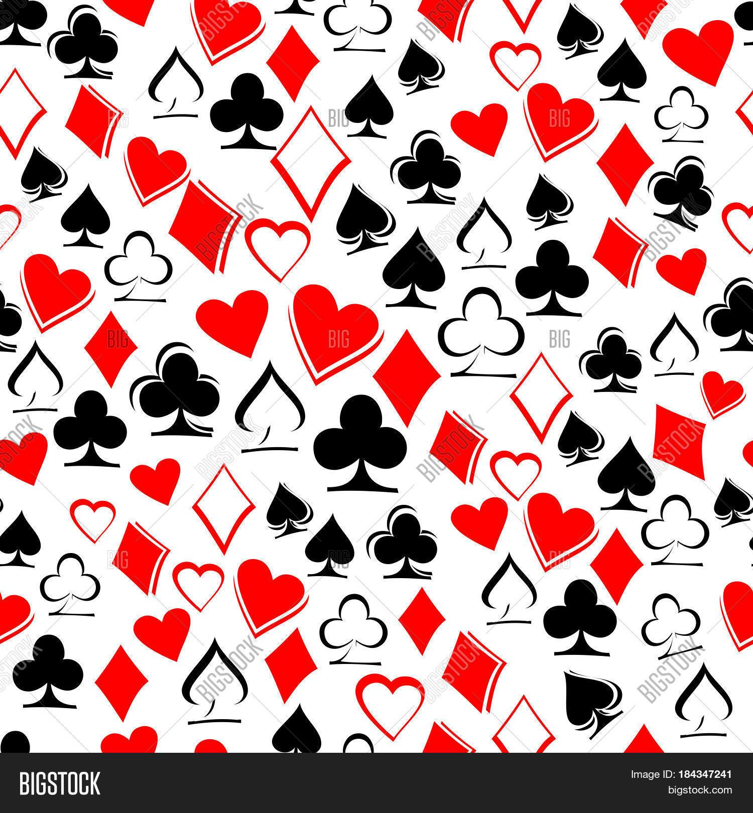 Vector Y Foto Playing Card Suits Prueba Gratis Bigstock