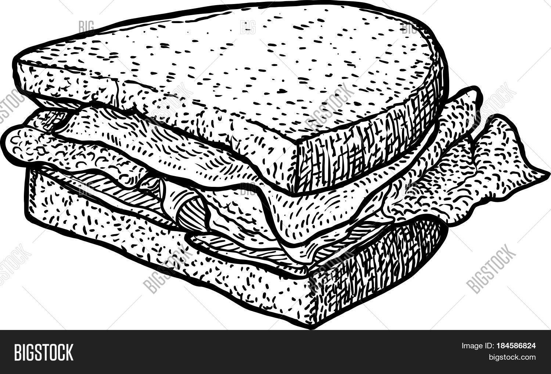 Sandwich Drawing Clip Art