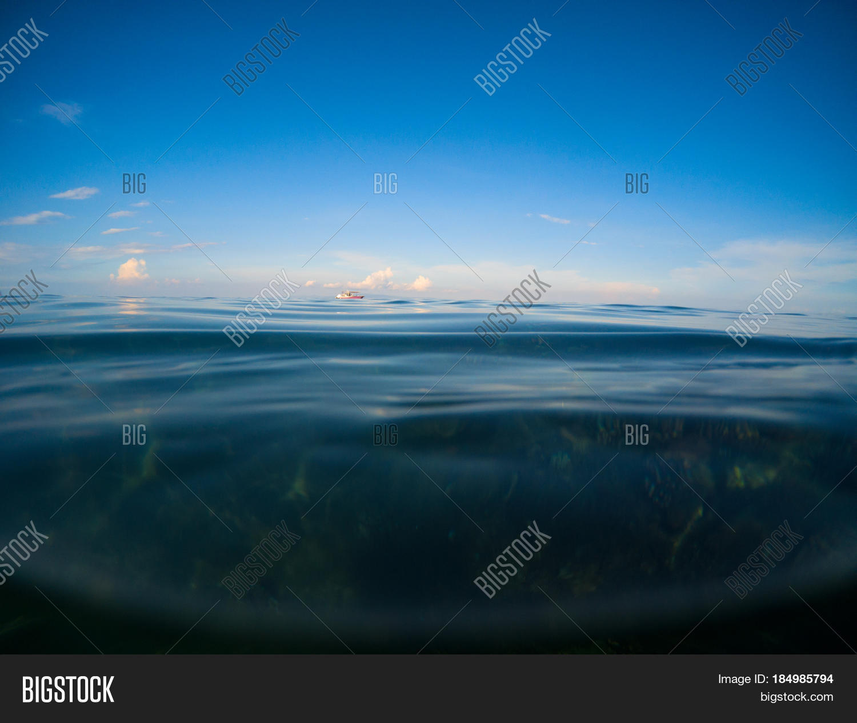 Ocean Deep Blue Sky Image & Photo (Free Trial) | Bigstock