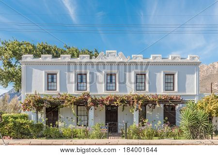 MONTAGU SOUTH AFRICA - MARCH 26 2017: An old house with grape vine verandah built 1892 in Montagu a town in the Western Cape Province
