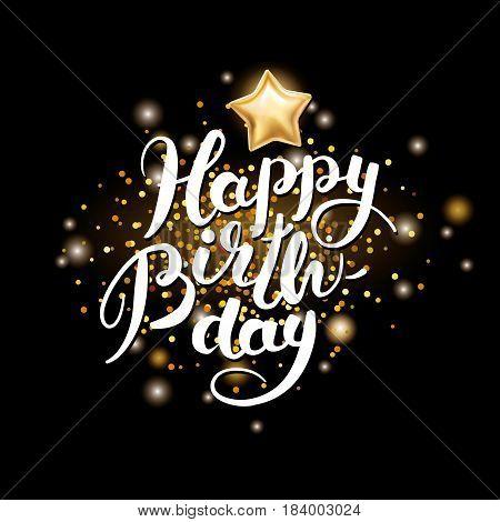Happy Birthday Lettering Sky