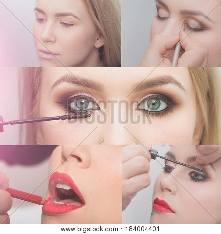 Step By Step Makeup Lesson, Before And After Makeup