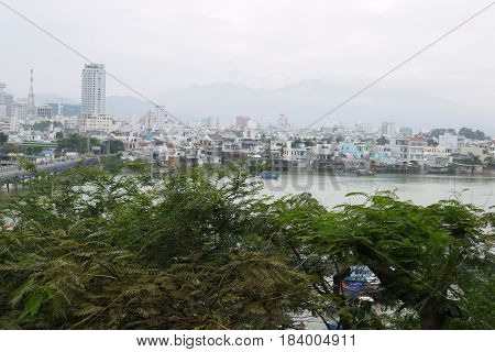 Vietnam, townscape Nha Trang in the south of the country